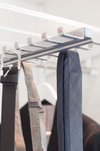 elfa shelving: pull out tie belt accessory
