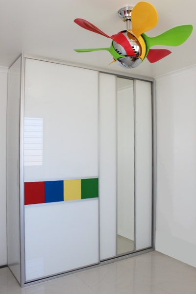 Lego inspired sliding door .