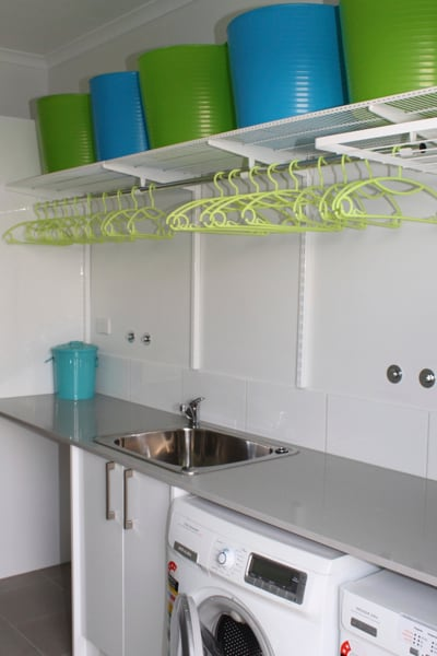 shelving above washing machine