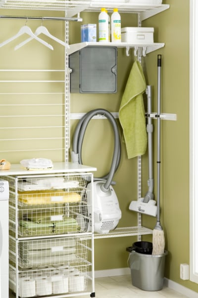 elfa laundry shelving