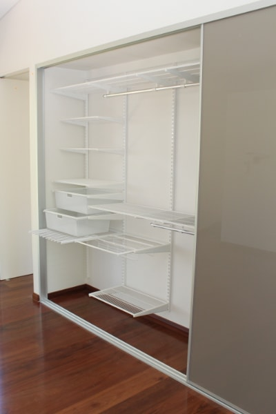 elfa ventilated wardrobe shelving with stylite wardrobes