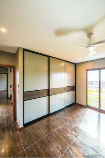 Large Wardrobe with 3 Sliding Doors featuring Mesh Panels & Crocodile wallpaper