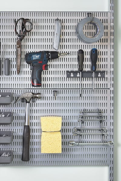 Tool storage peg board