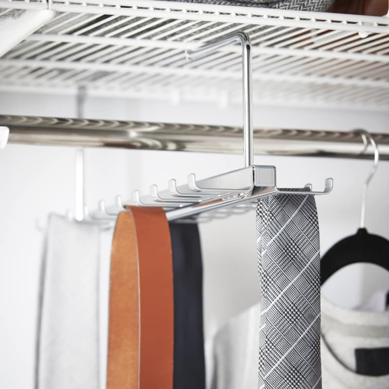 elfa clothing pullout tie and belt rack