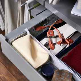 elfa decor small pull out shelf and drawer dividers