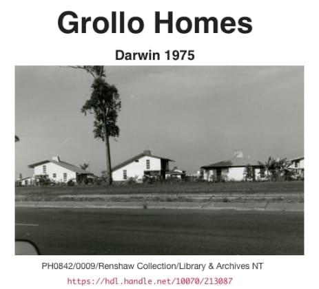 Grollo Home Exterior 1975 Darwin