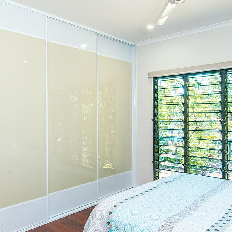 Main Bedroom Tropical Decor with Ventilated Top and Bottom Sliding Doors