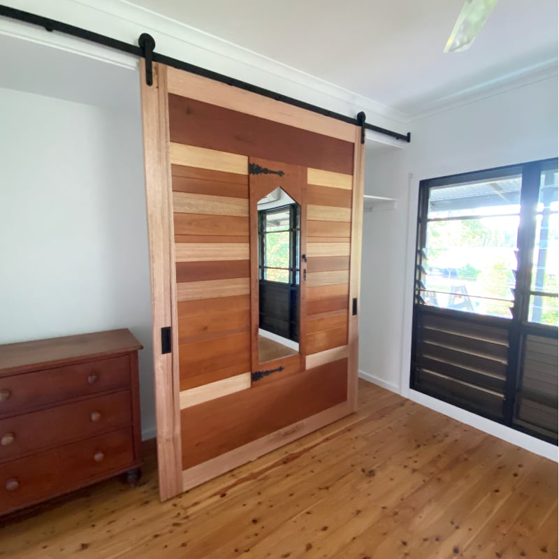 Barn Door made from Recycled Vintage Wardrobe