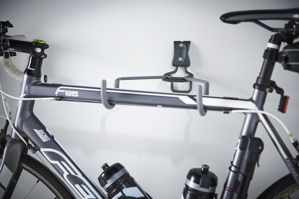 Horizontal Bike Rack Mounted Directly to the Wall