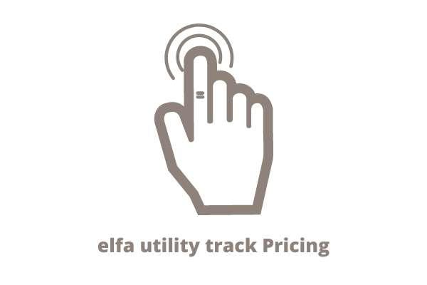elfa wall storage with utility track