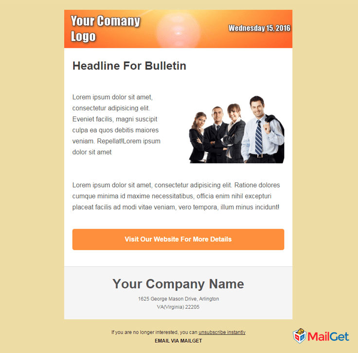 Free Business Email Templates  20 business email templates
