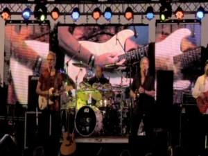 Big LED screens at Helwig Concerts