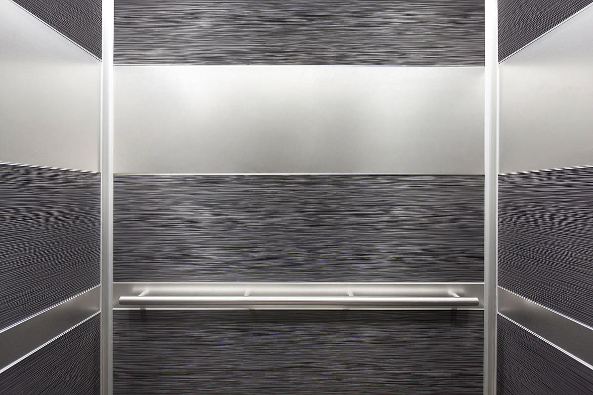 LEVELe 104 Elevator Interior With Main Panels In Bonded