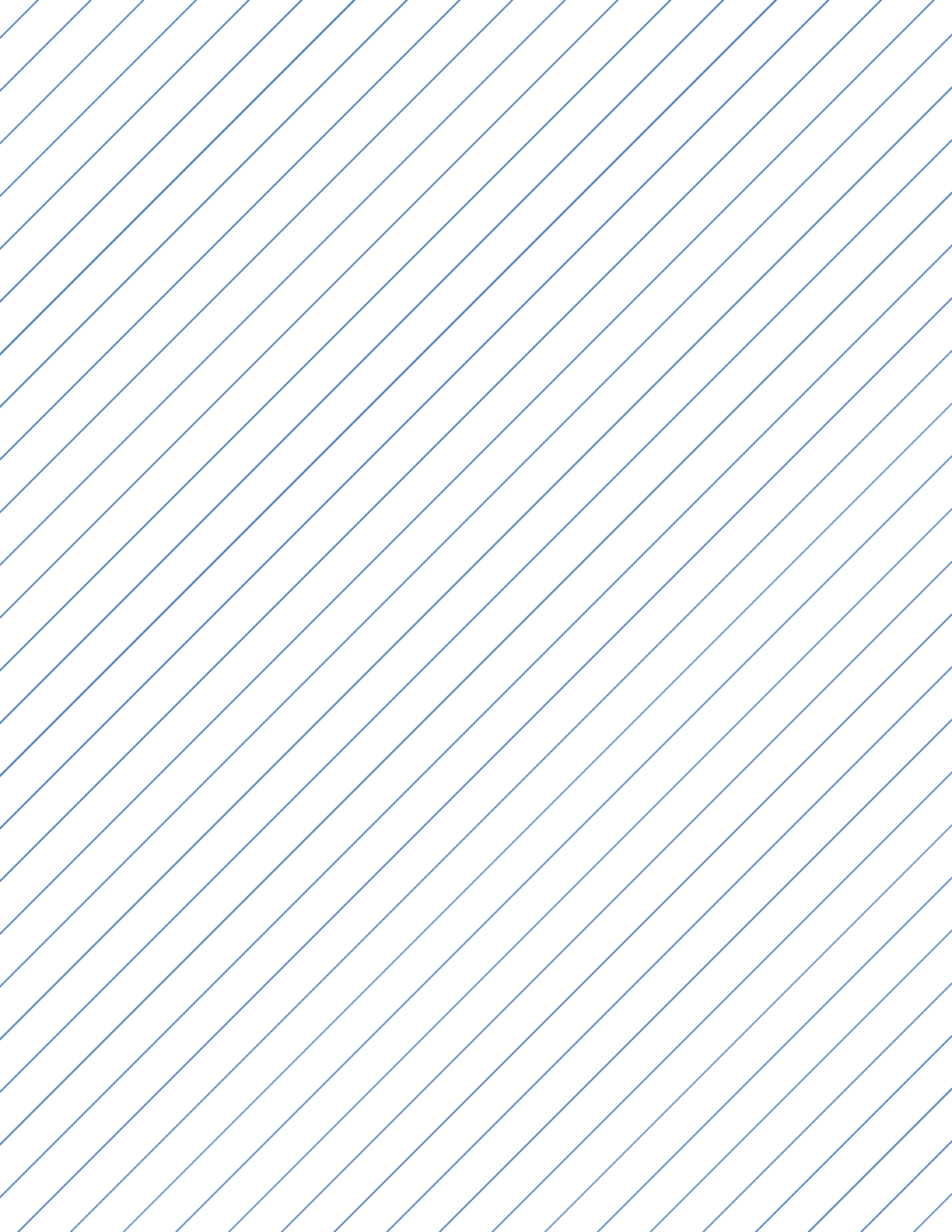 Slant Ruled Paper With Wide Ruled Right Handed High Angle