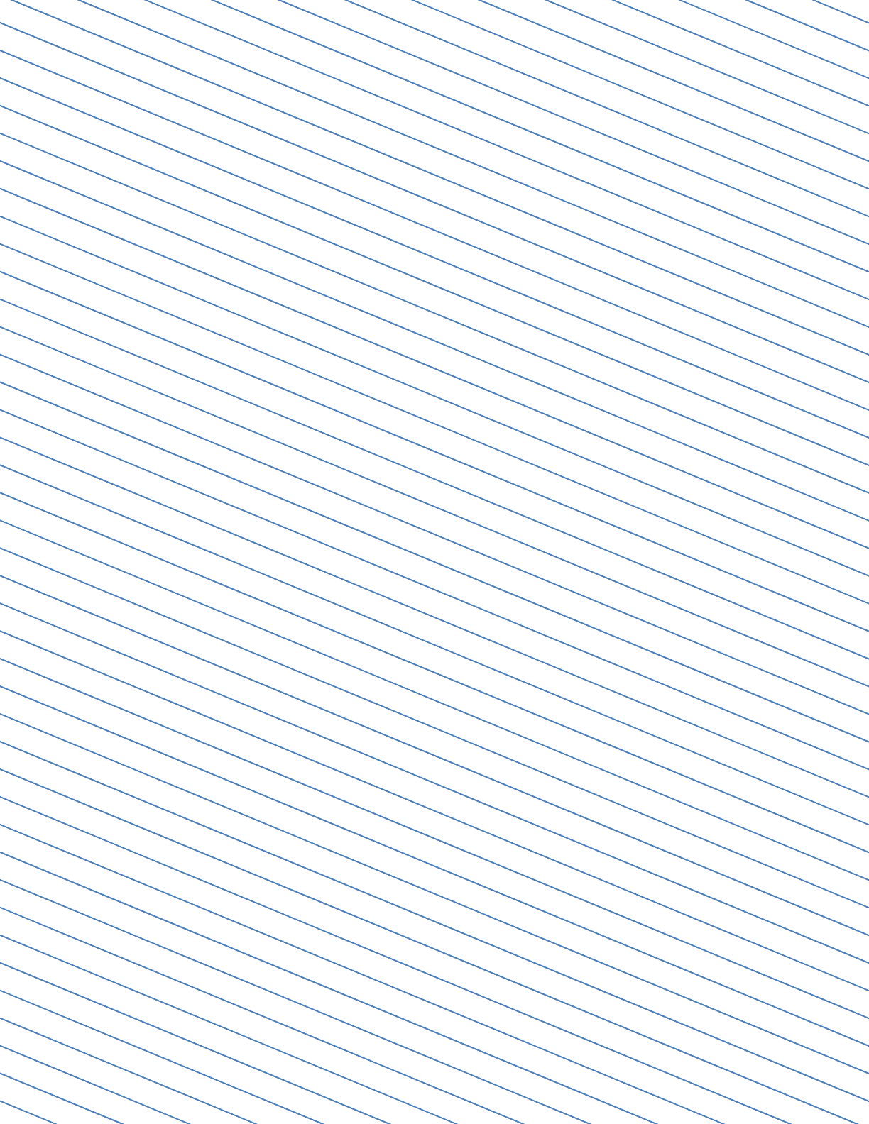 Slant Ruled Paper With Narrow Ruled Left Handed Low Angle