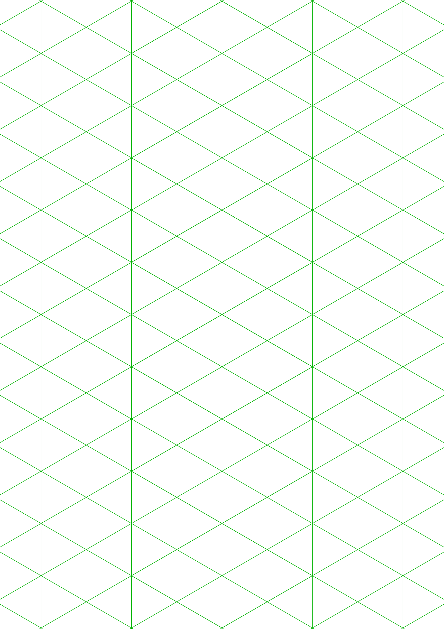 Isometric 1 Inch Figures Graph Paper Free Download
