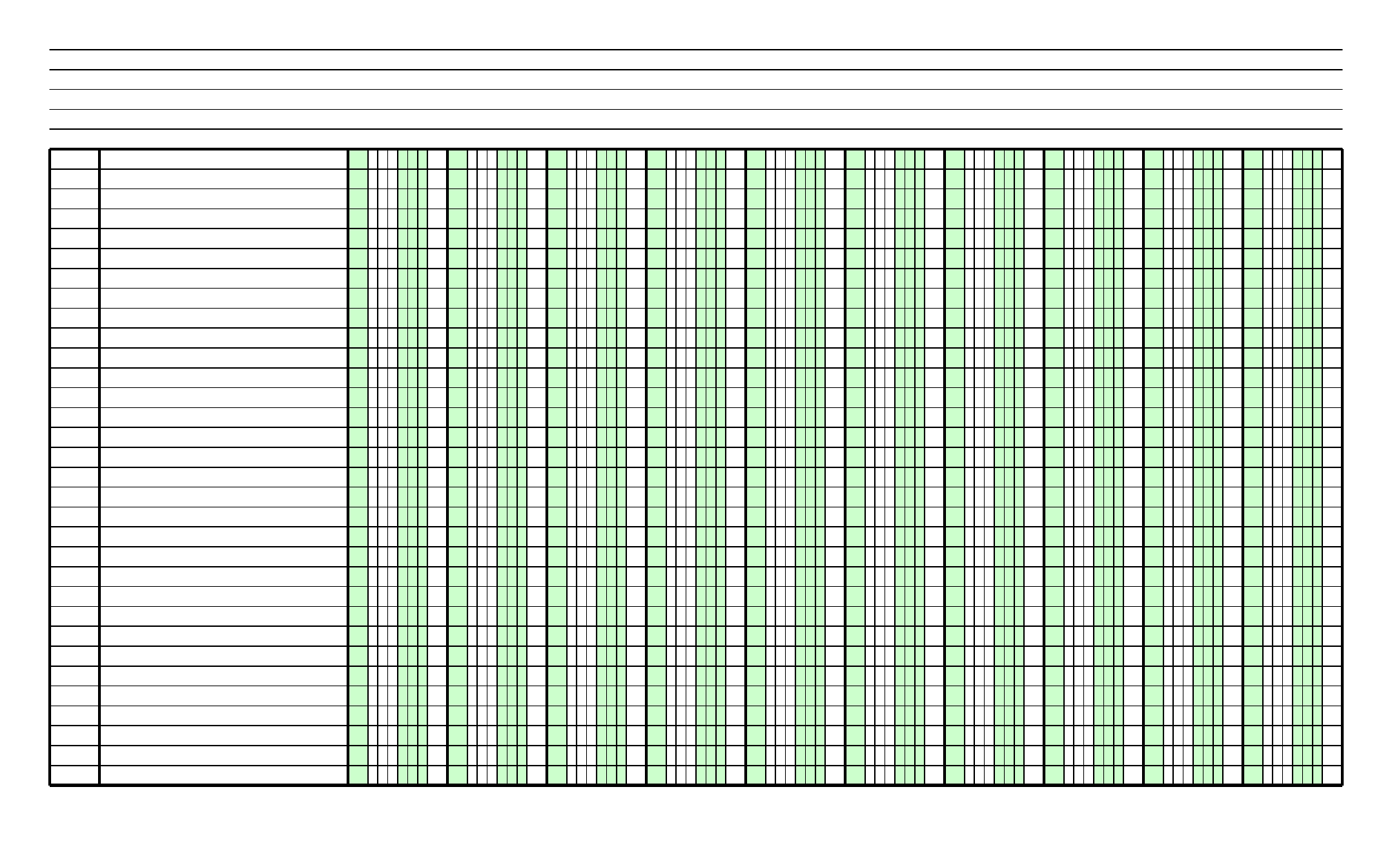 Blank Columnar Paper With Two Columns On Legal Sized Paper In Portrait Orientation Free Download