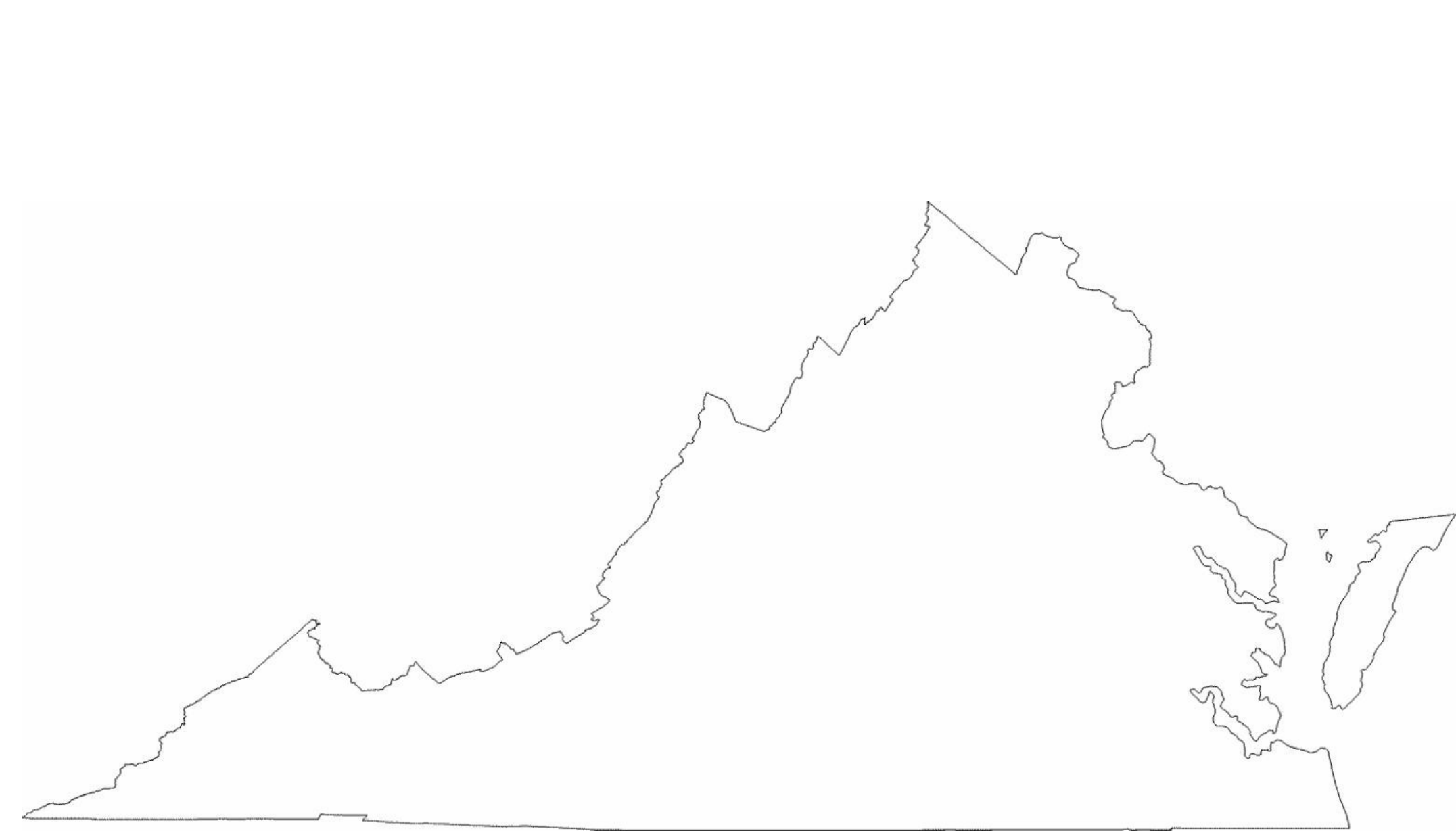 Virginia State Outline Map Free Download