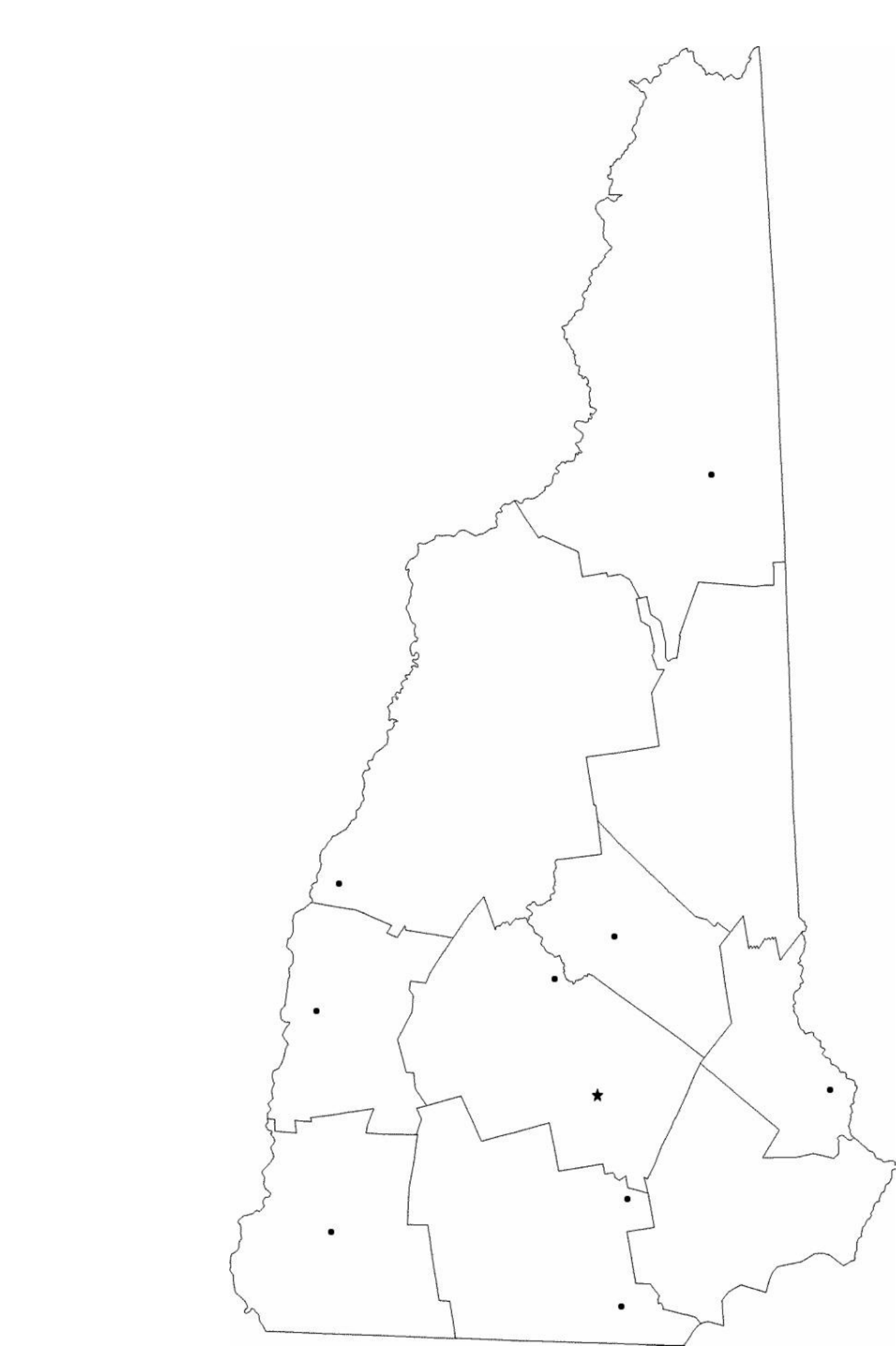Blank New Hampshire City Map Free Download