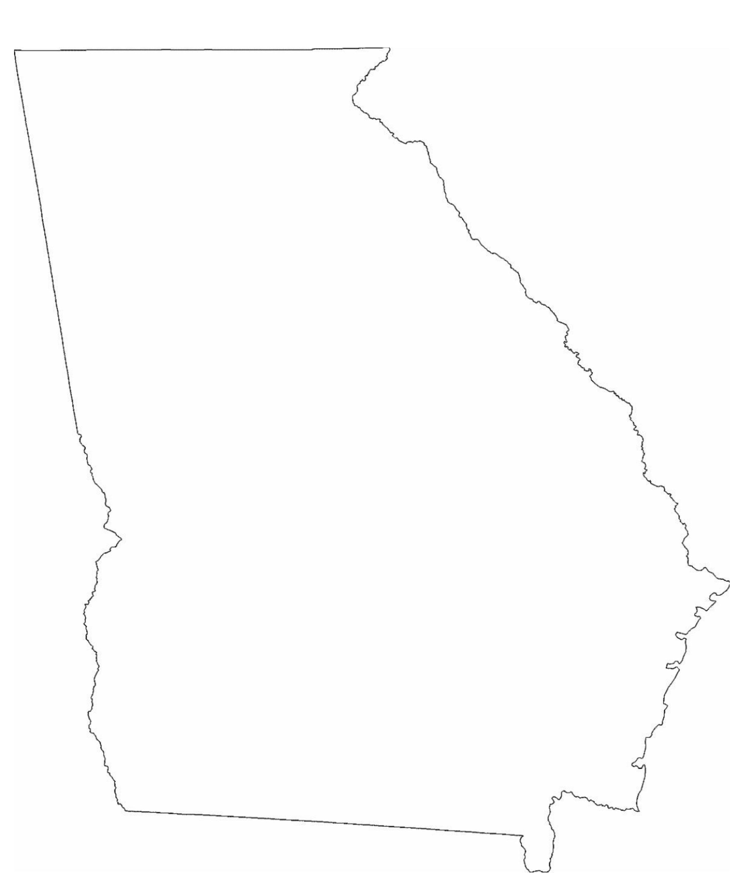 Georgia State Outline Map Free Download