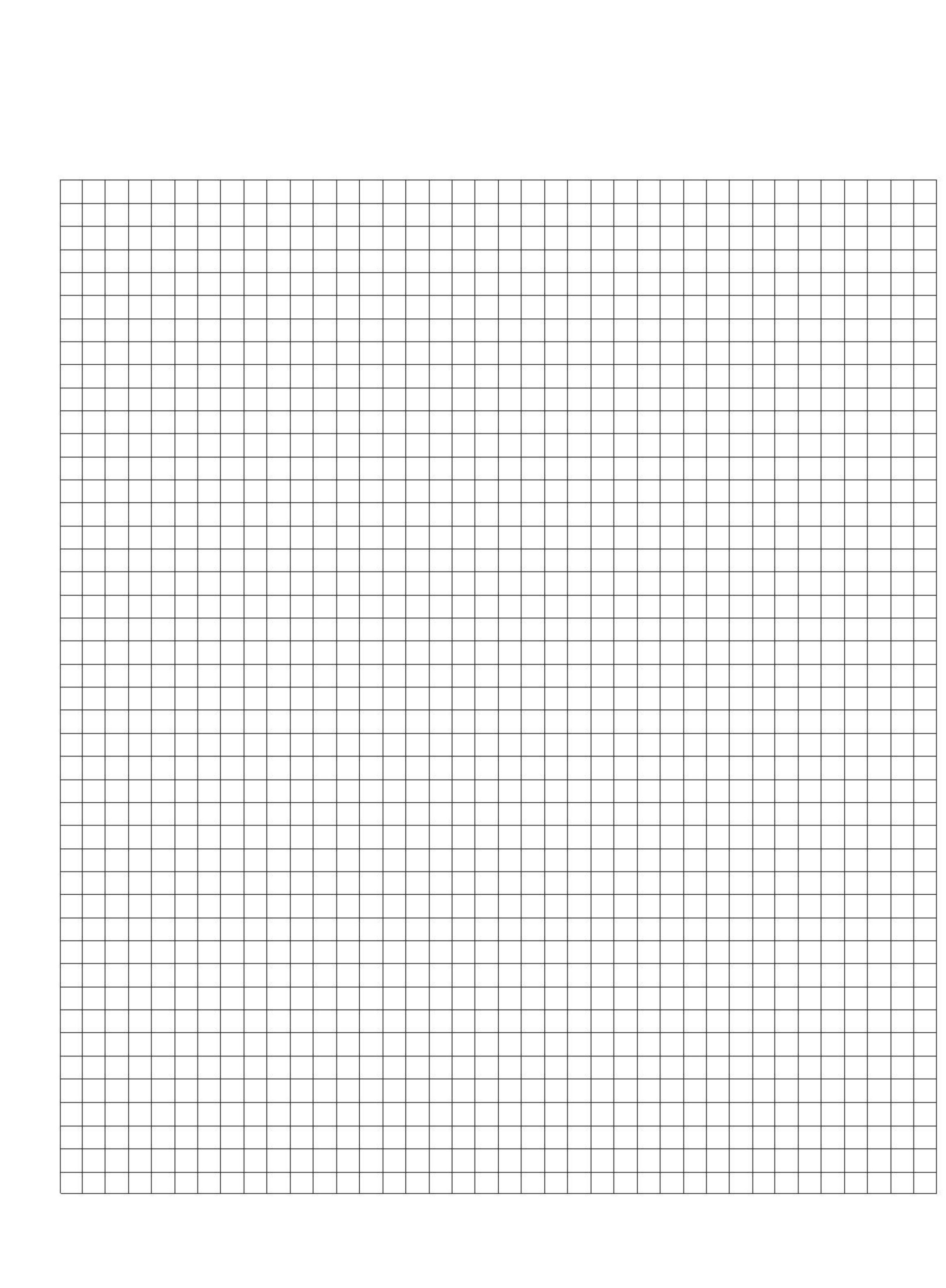 Half Centimeter Graph Paper Template Free Download