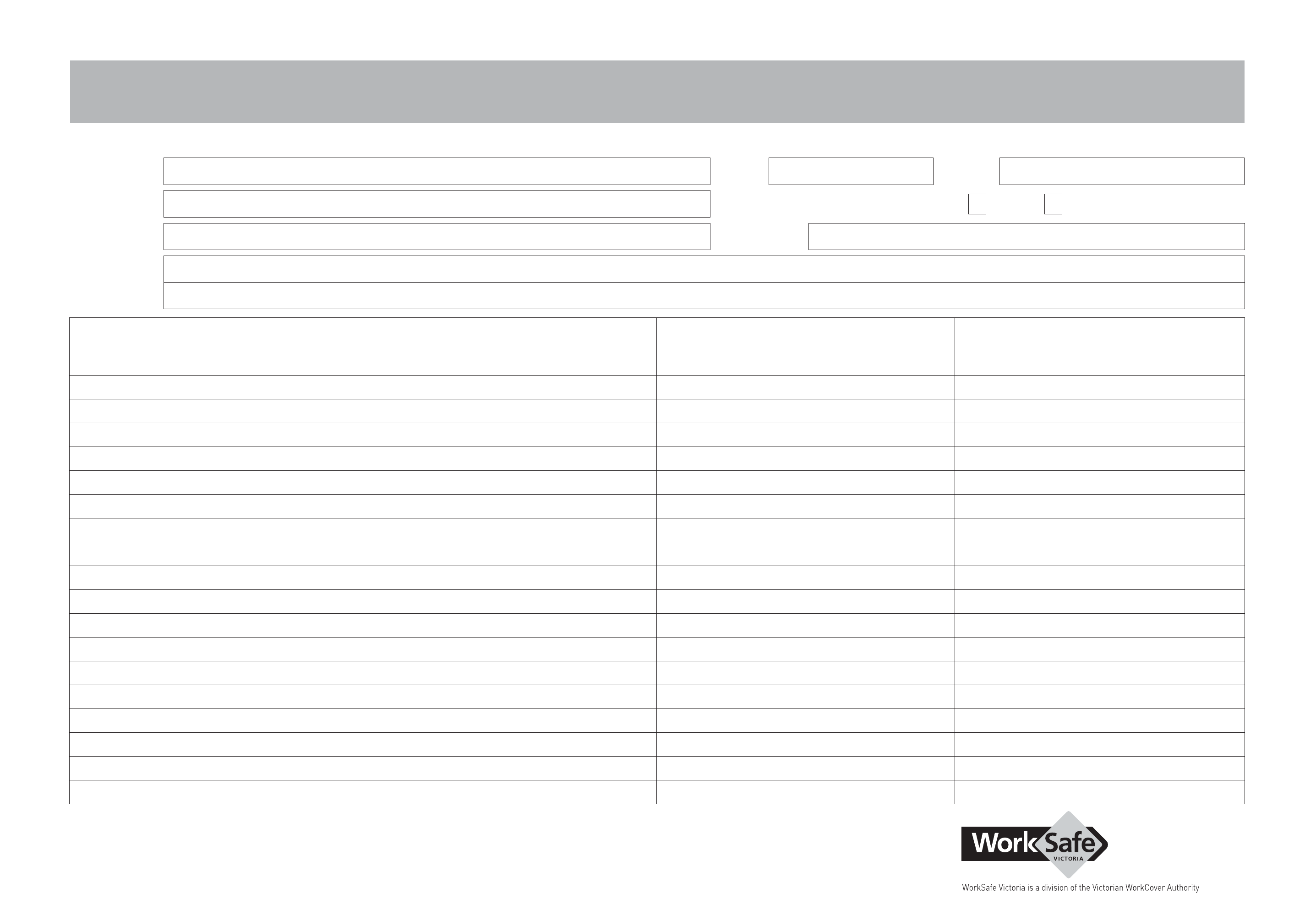 Job Safetyysis Worksheet Free Download