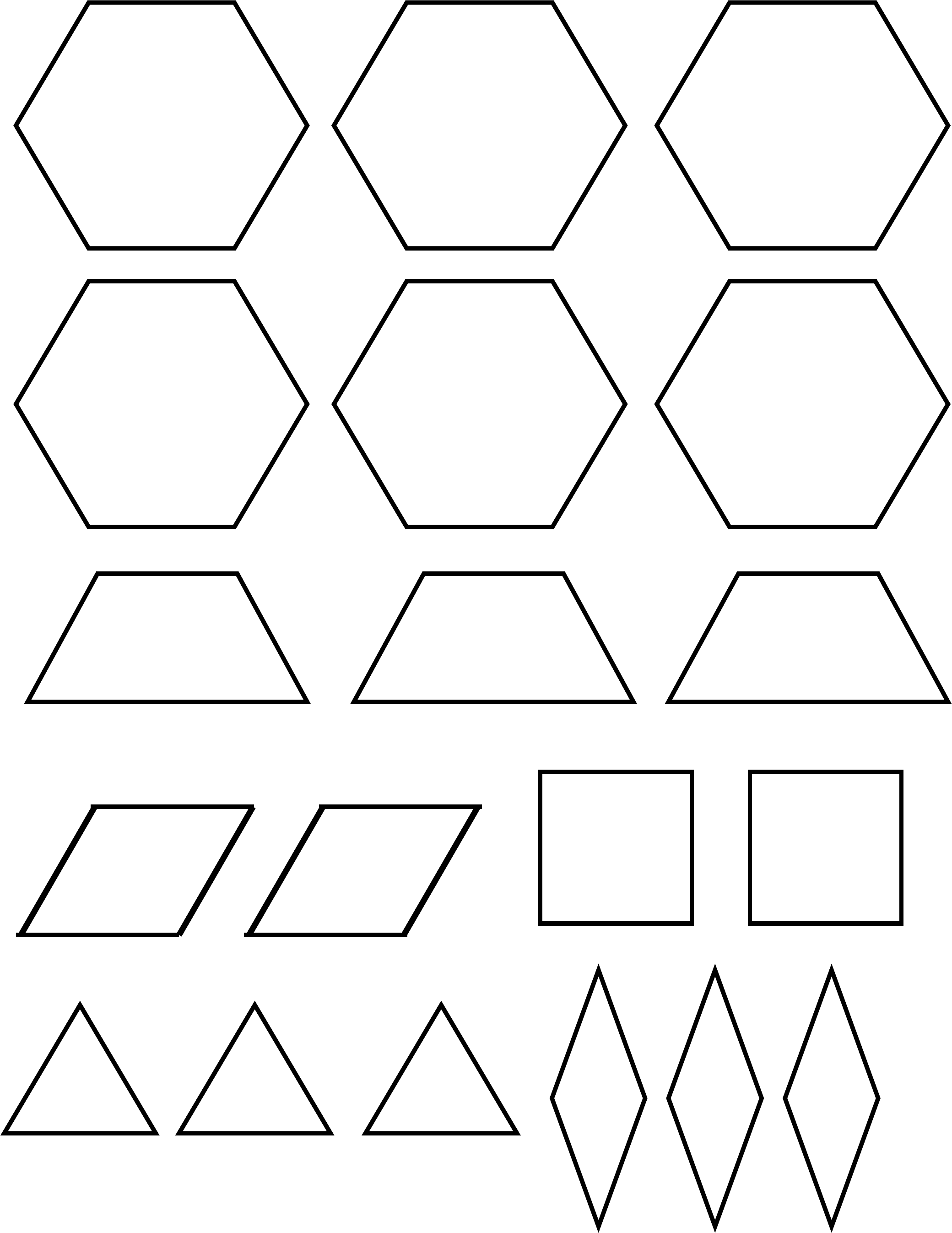 Pattern Block Template Sample Free Download
