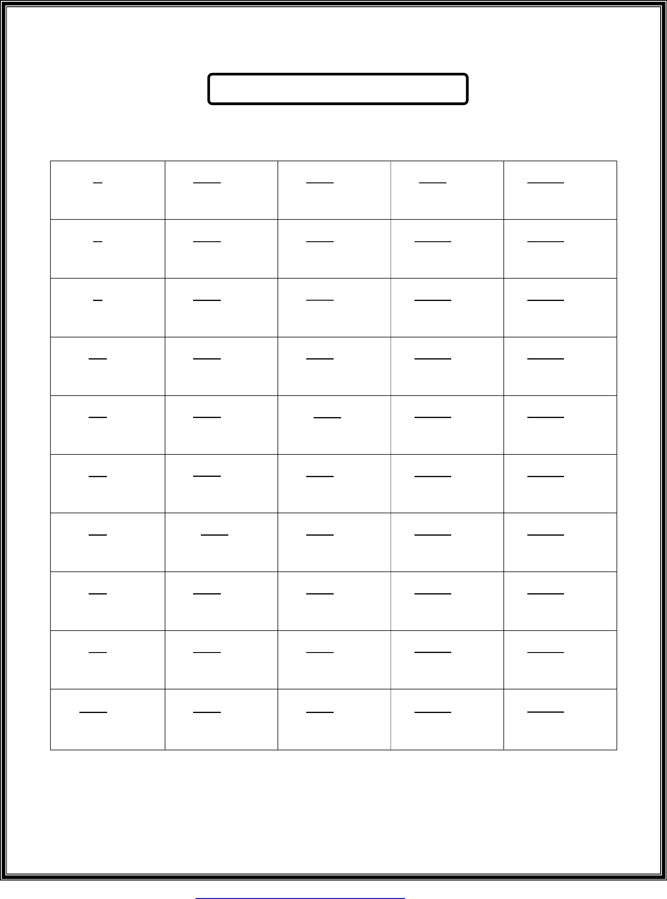 Sample Square Roots Chart Free Download