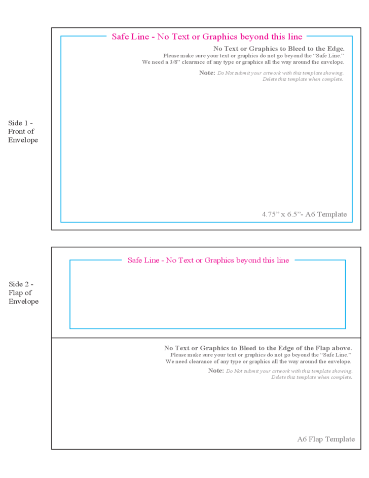 Template For Envelope. standard envelope template 5 free envelope ...