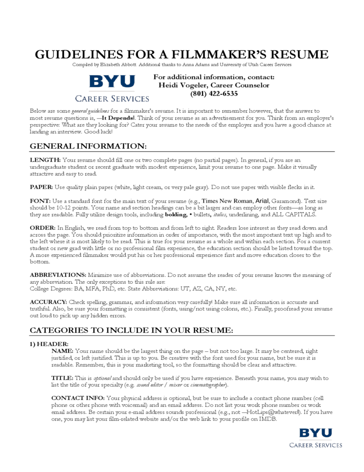 resume for phd application