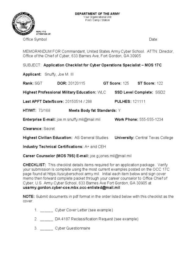 Army Memo Template - 28 Free Templates in PDF, Word, Excel Download