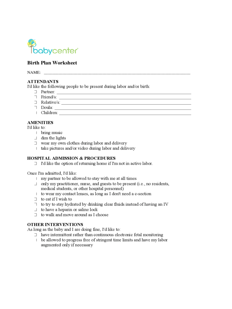 Free Worksheet Birth Plan Worksheet Printable birthing plan template word birth 4 free pdf 6 templates in excel download