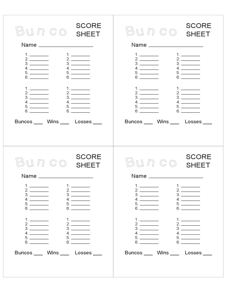 graphic about Bunco Score Sheets Free Printable titled Bunco Rating Sheets Template. pin this is your indexhtml webpage