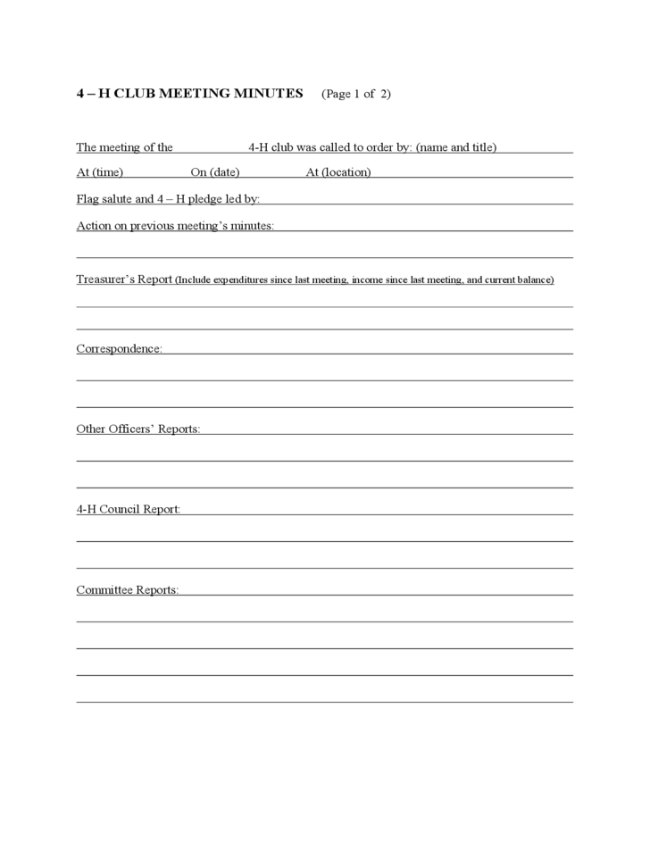 Business Meeting Report Template meeting agenda template word – Business Meeting Report Template