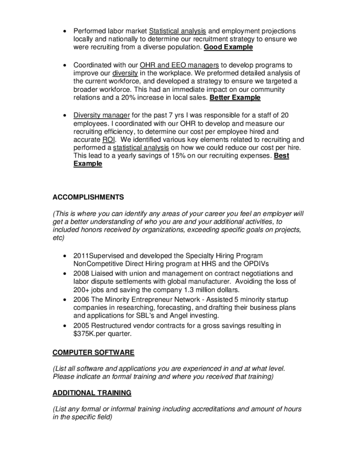 Federal Resume. federal resume sample pdf. federal resume example ...
