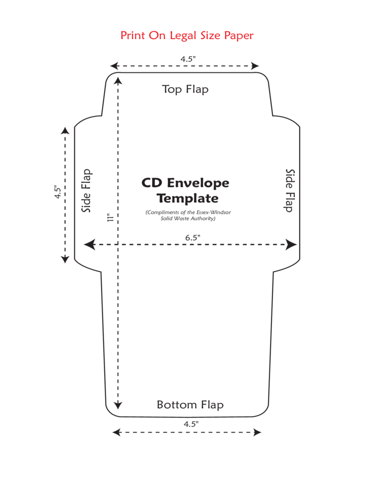 Standard CD Envelope Template Free Download