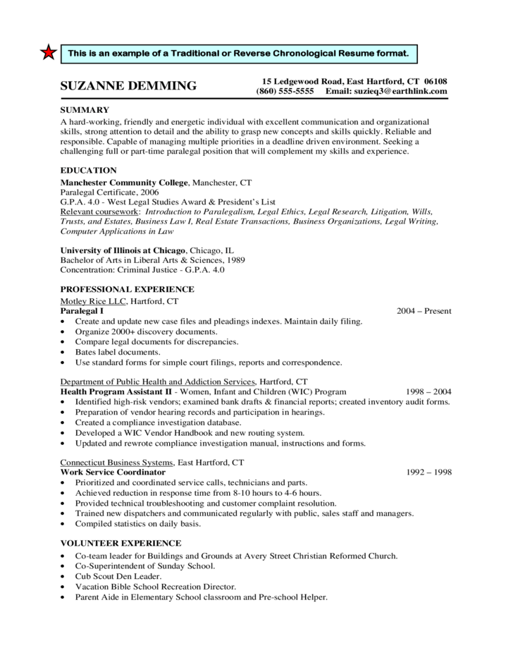 traditional resume format examples resume wikihow examples of