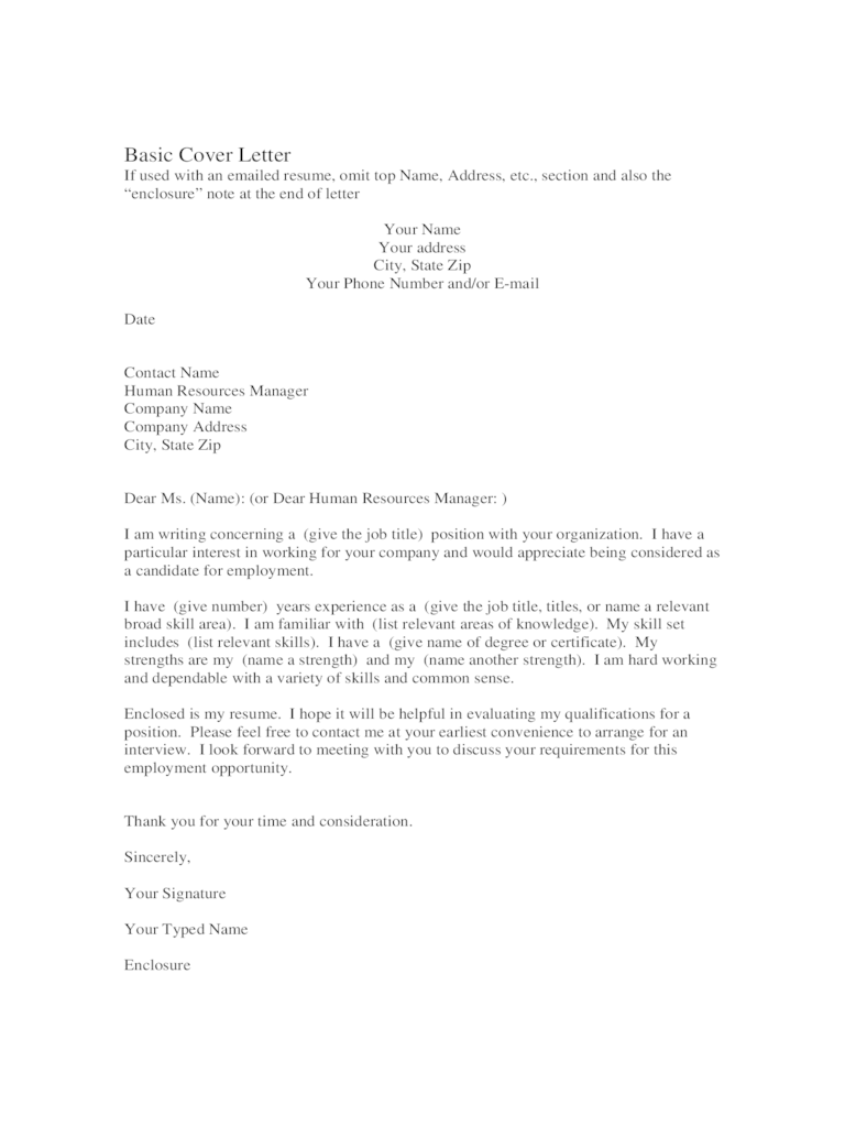 Cover Letter Template 42 Free Templates In PDF Word