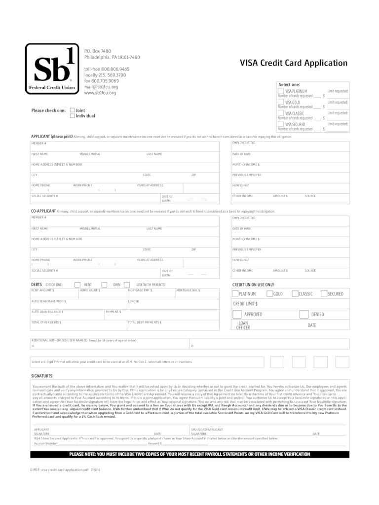 Credit Card Application Form 6 Free Templates In Pdf Word