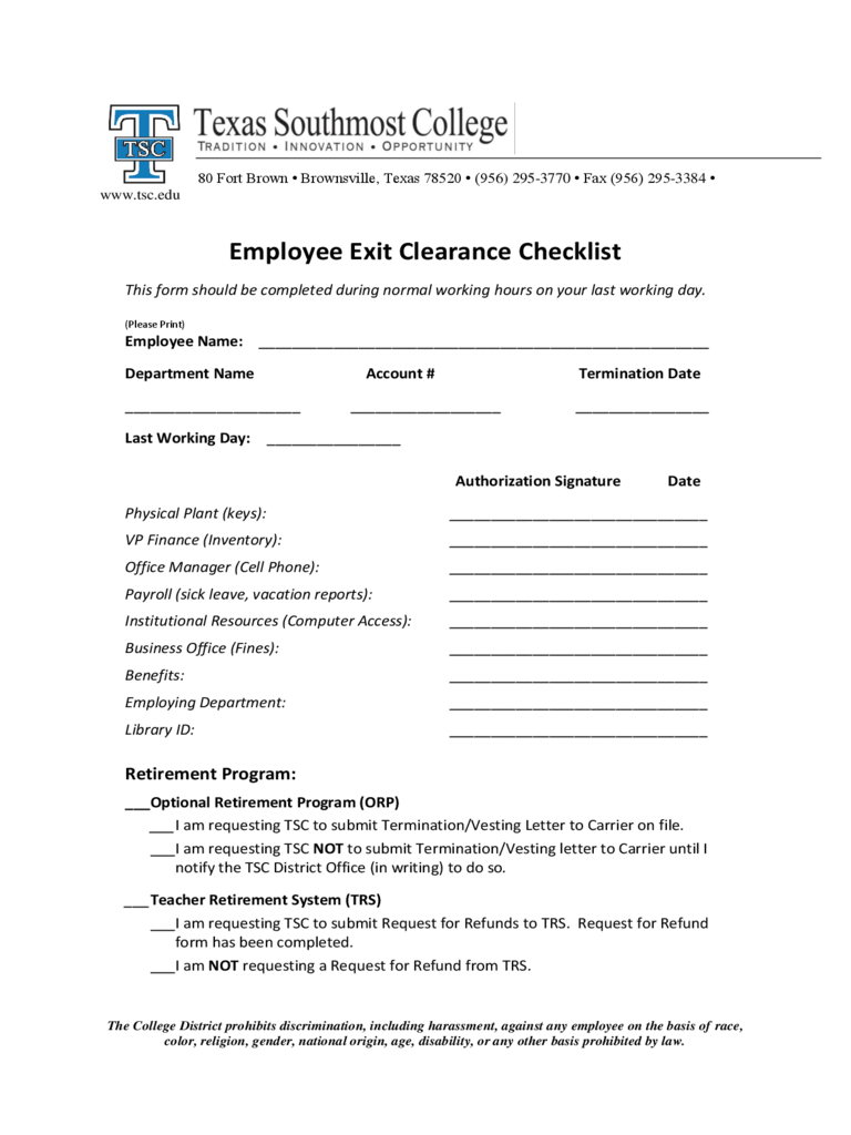 free employee information form template personnel and hr forms – Employee Exit Form Template