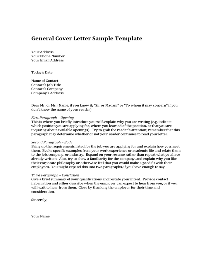 generic resume template examples resume cover letter template and how to create a general cover
