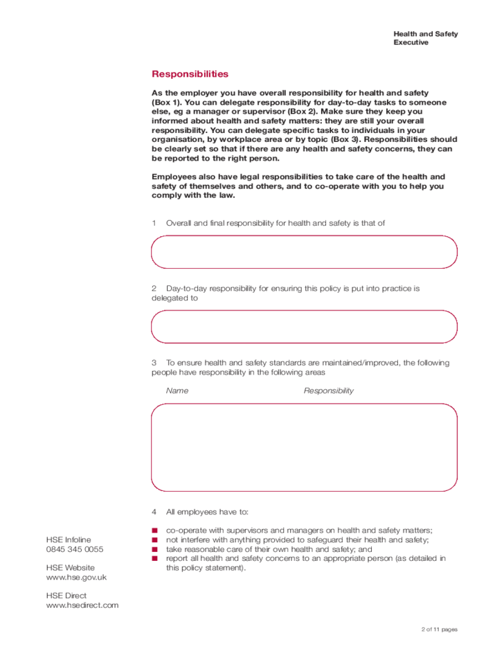 health and safety policy statement template doc pdf page 1 of 3 ...