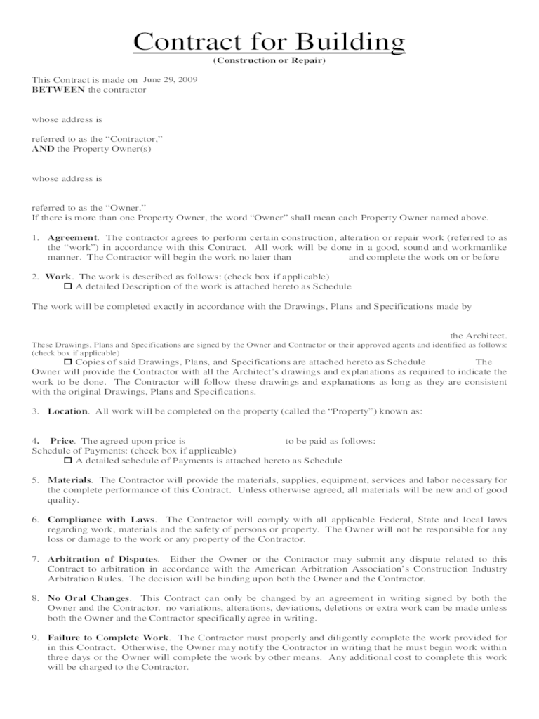 Home Repair Contract Template. 8 contract template contract ...