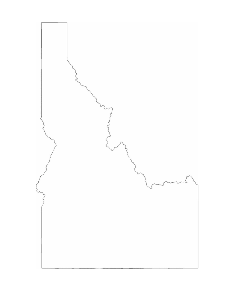 Idaho Map Template 8 Free Templates In PDF Word Excel Download