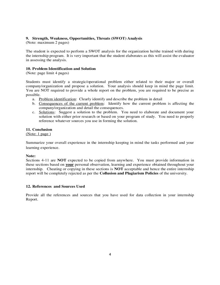 Internship Report Template  report cover page template success