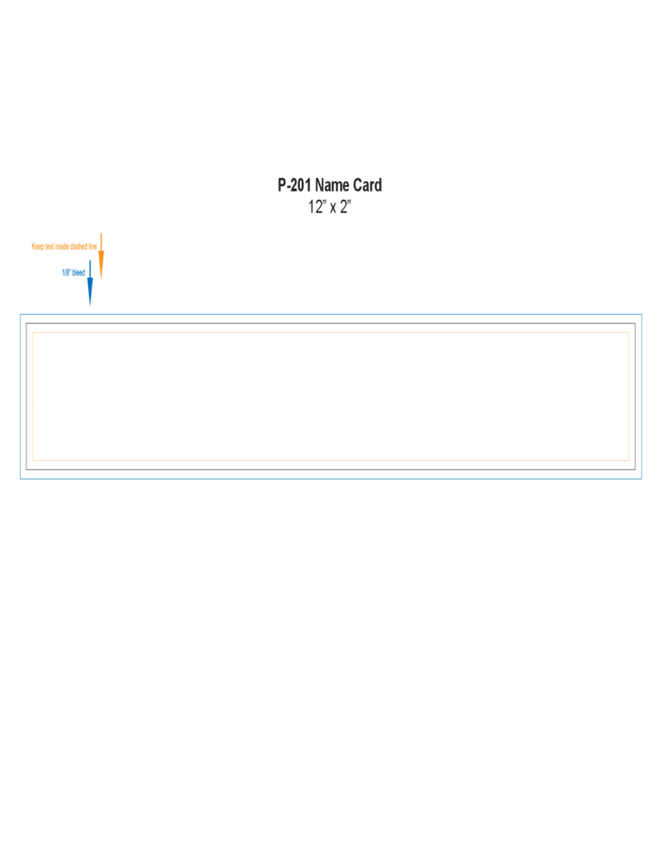 Simple Name Card Template Free Download