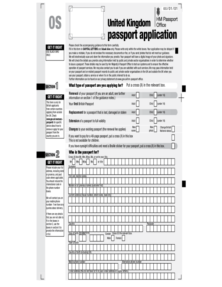 How To Fill Passport Application Form Uk | How To