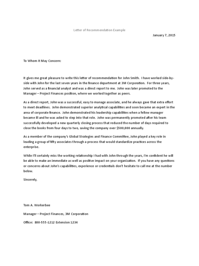 Recommendation Letter Templates - 29 Free Templates in PDF, Word