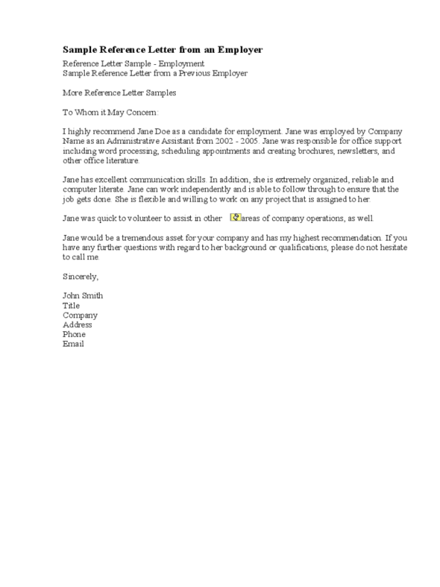 Sample recommendation letter for employee from employer doc samples of letters recommendation letter sample from employer doc source templates 8 free in pdf word spiritdancerdesigns Choice Image