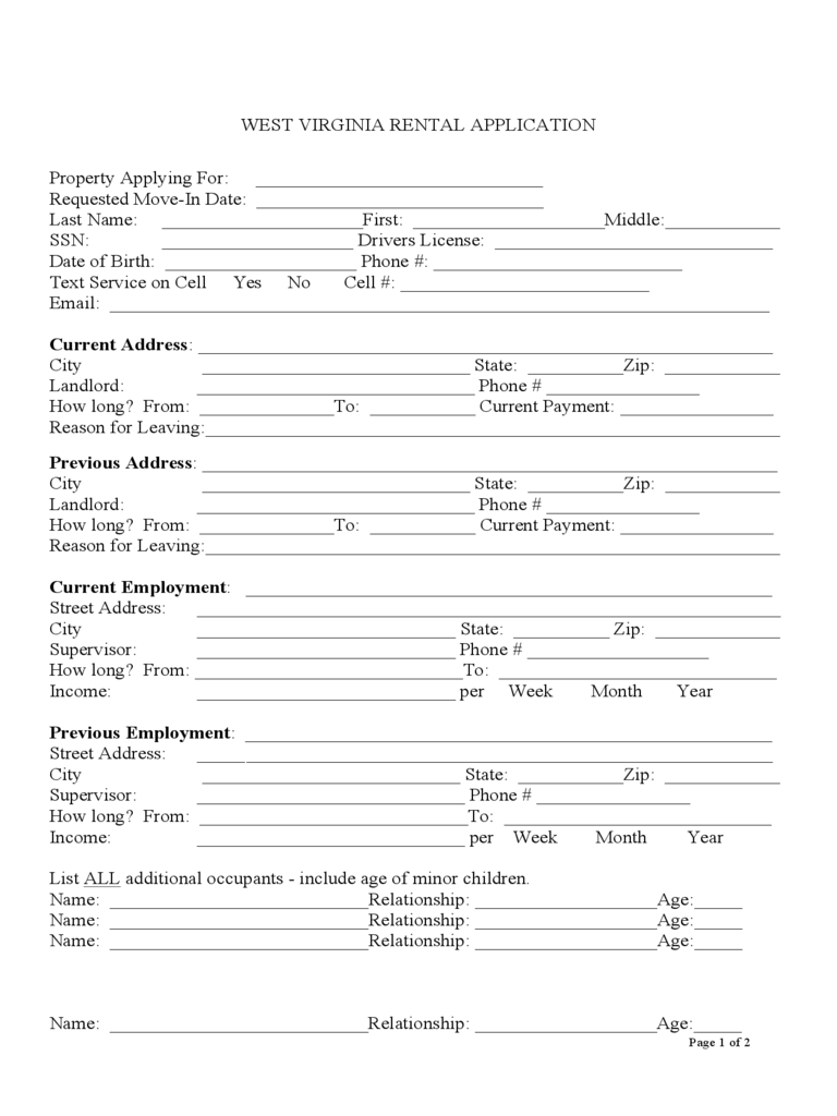 West Virginia Rent And Lease Template Free Templates In PDF Word Excel To Print